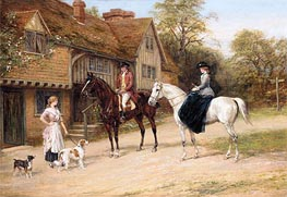 The Gamekeeper's Daughter, undated by Heywood Hardy | Painting Reproduction