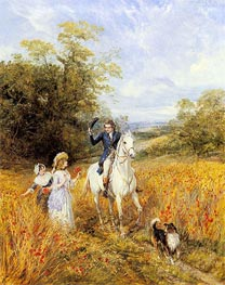 The Morning Ride, undated by Heywood Hardy | Painting Reproduction