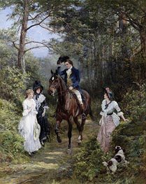 The Meeting in the Forest, 1903 by Heywood Hardy | Painting Reproduction