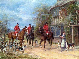 A Halt at the Inn, undated by Heywood Hardy | Painting Reproduction