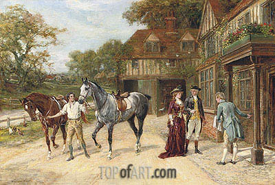 After the Morning Gallop, 1907 | Heywood Hardy| Painting Reproduction