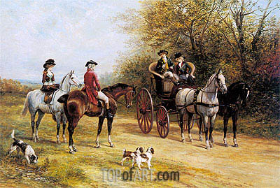A Chat with His Lordship, undated | Heywood Hardy | Painting Reproduction