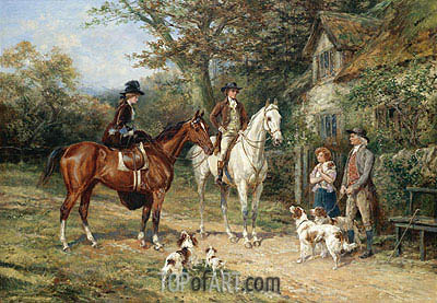 A Convivial Greeting, 1906 | Heywood Hardy| Painting Reproduction