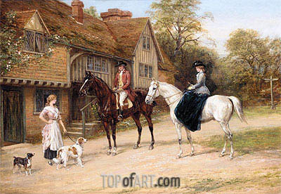 The Gamekeeper's Daughter, undated | Heywood Hardy | Painting Reproduction