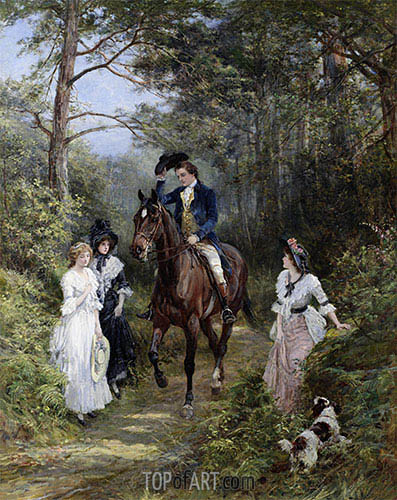 Heywood Hardy | The Meeting in the Forest, 1903