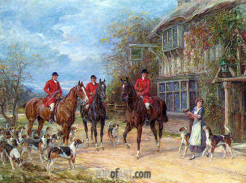 A Halt at the Inn, undated | Heywood Hardy | Painting Reproduction