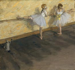 Dancers Practicing at the Barre | Degas | outdated
