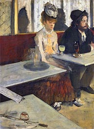 The Absinthe Drinker (In a Cafe) | Degas | Painting Reproduction