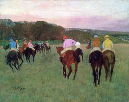 Racehorses at Longchamp | Degas | Painting Reproduction