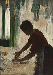 A Woman Ironing (Silhouette), 1873 by Degas | Painting Reproduction