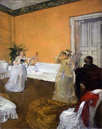 The Song Rehearsal, c.1872/73 by Degas | Painting Reproduction