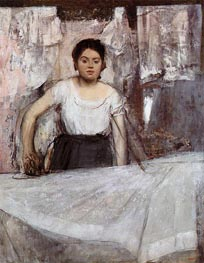 Woman Ironing (The Laundress), c.1869 by Degas | Painting Reproduction