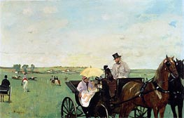 A Carriage at the Races in the Countryside | Degas | Painting Reproduction