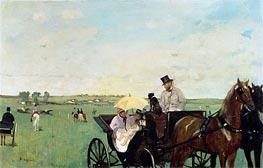 Bei den Rennen auf dem Lande | Degas | Gemälde Reproduktion