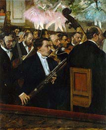 The Opera Orchestra, c.1870 by Degas | Painting Reproduction