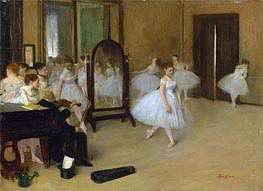 The Dancing Class, c.1870/71 by Degas | Painting Reproduction