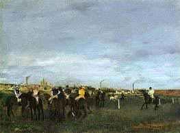 Before the Race, c.1873 by Degas | Painting Reproduction
