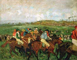 The Gentlemen's Race - Before the Start, 1862 by Degas | Painting Reproduction