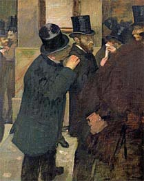 At the Stock Exchange, c.1878/79 by Degas | Painting Reproduction