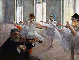 The Rehearsal, c.1878/79 by Degas | Painting Reproduction