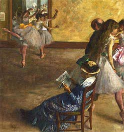 The Ballet Class, c.1880 by Degas | Painting Reproduction