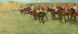 At the Races - Before the Start, c.1885/92 by Degas | Painting Reproduction