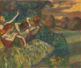 Four Dancers, c.1899 by Degas | Painting Reproduction