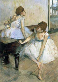 Two Dancers Resting, 1874 by Degas | Painting Reproduction
