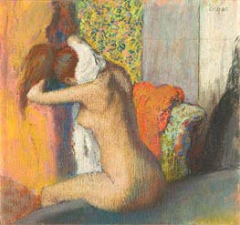 After the Bath, Woman Drying her Neck | Degas | Gemälde Reproduktion