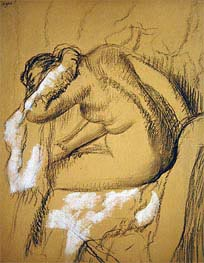 Woman Drying Herself, undated by Degas | Painting Reproduction