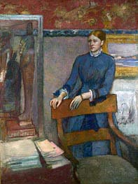 Helene Rouart in her Father's Study, c.1886 von Degas | Gemälde-Reproduktion