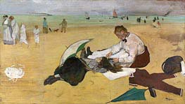 Beach Scene | Degas | Painting Reproduction