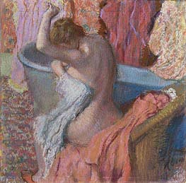 Wiping Bather | Degas | Painting Reproduction