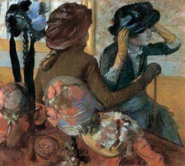 At the Milliner's | Degas | Painting Reproduction