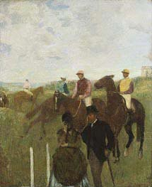 Jockeys at the Racecourse, undated by Degas | Painting Reproduction