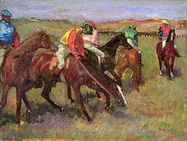 Before the Race | Degas | Gemälde Reproduktion