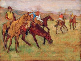 Before the Race, c.1882/84 by Degas | Painting Reproduction