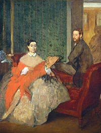 Edmondo and Therese Morbilli, c.1865 von Degas | Gemälde-Reproduktion