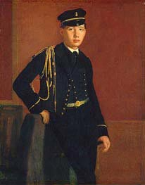 Achille De Gas in the Uniform of a Cadet, c.1856/57 by Degas | Painting Reproduction