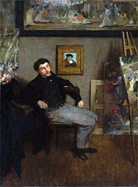 James-Jacques-Joseph Tissot, c.1867/68 by Degas | Painting Reproduction