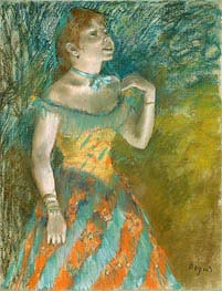 The Singer in Green, c.1884 by Degas | Painting Reproduction