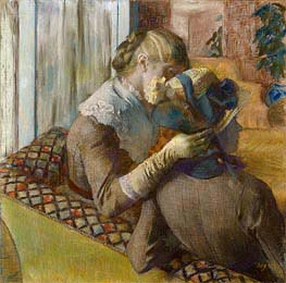 At the Milliner's, 1881 by Degas | Painting Reproduction