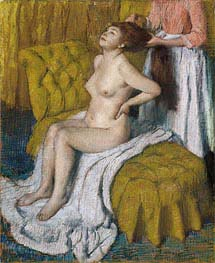 Woman Having Her Hair Combed, c.1886/88 by Degas | Painting Reproduction