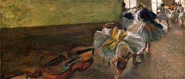 Dancers in the Rehearsal Room with a Double Bass | Degas | veraltet