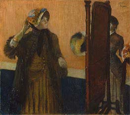 At the Milliner's, 1882 by Degas | Painting Reproduction