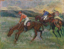 Three Jockeys, c.1900 by Degas | Painting Reproduction