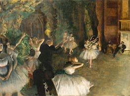 The Rehearsal of the Ballet Onstage | Degas | veraltet