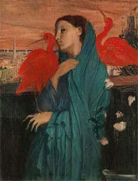 Young Woman with Ibis | Degas | Gemälde Reproduktion