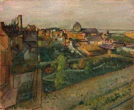 View of Saint-Valery-sur-Somme, c.1896/98 by Degas | Painting Reproduction