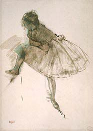 Study of a Ballet Dancer, c.1873 by Degas | Painting Reproduction